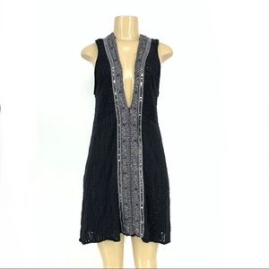 Free people wool blend tunic dress Embellished